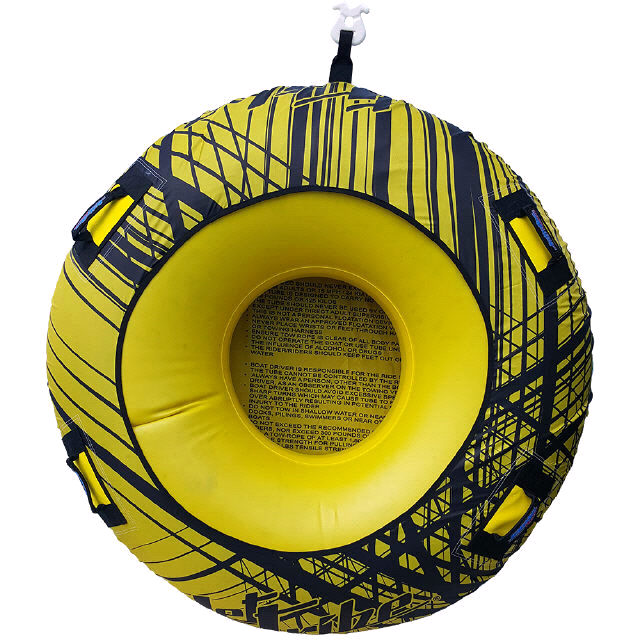 DONUT TOWABLE ONE PERSON INFLATABLE TUBE PWC Jetski Ride Race Yellow
