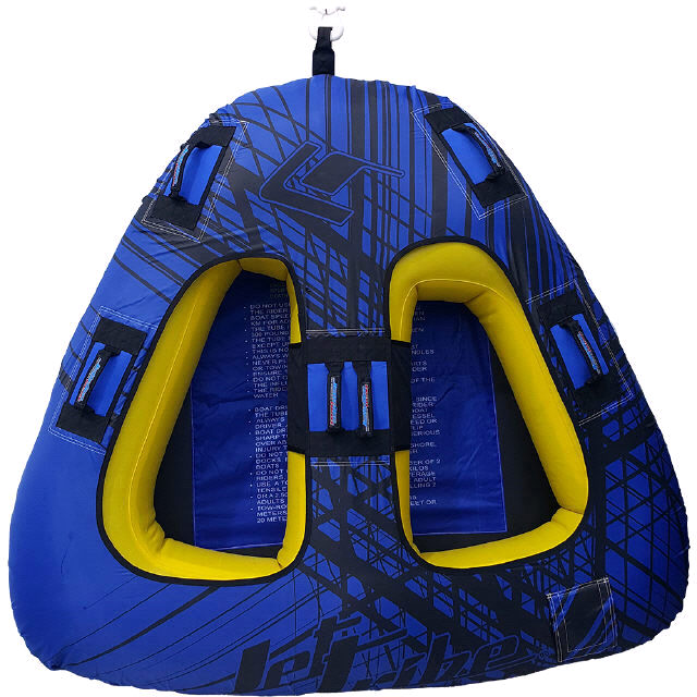 SPIKE TRIANGLE TOWABLE TWO PERSON INFLATABLE TUBE BLUE PWC JET SKI