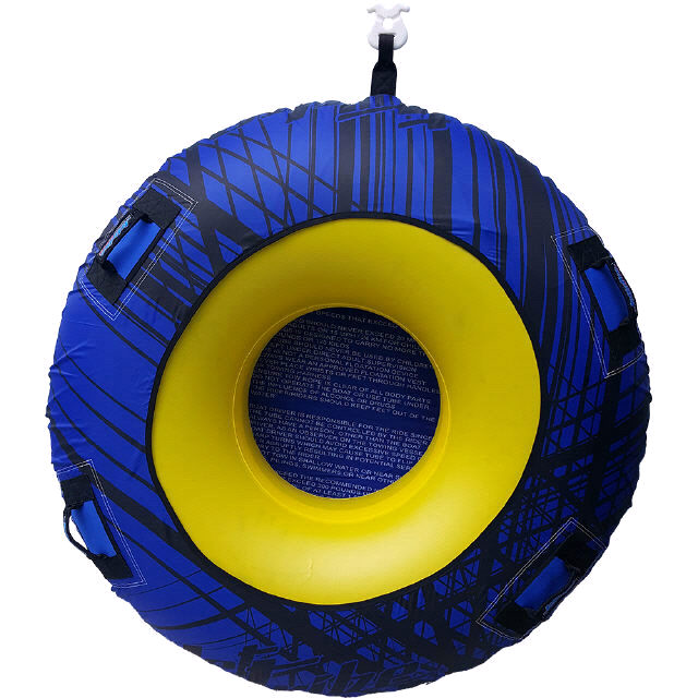 DONUT TOWABLE ONE PERSON INFLATABLE TUBE PWC Jetski Ride Race Blue