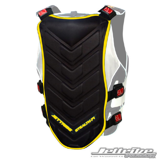 JTG 13424-RB Stealth 71 Back Deflector BLACK/YELLOW