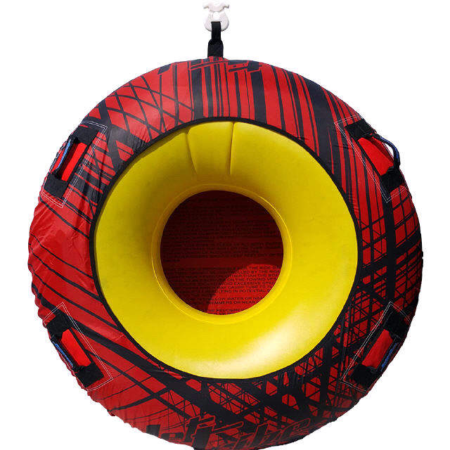 DONUT TOWABLE ONE PERSON INFLATABLE TUBE PWC Jetski Ride Race Red