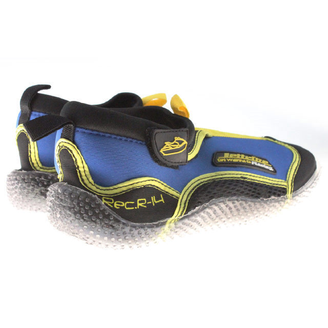 Jettribe Jetski Riding Shoes RS-14 Unisex PWC Size 07-13 Yellow/Blue