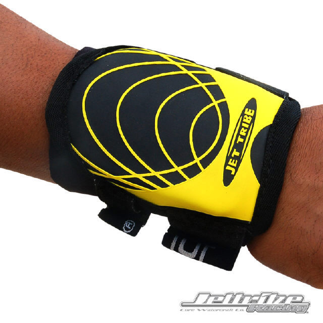 JTG11444-YW Jettribe Wrist Guard Black/Yellow - Each