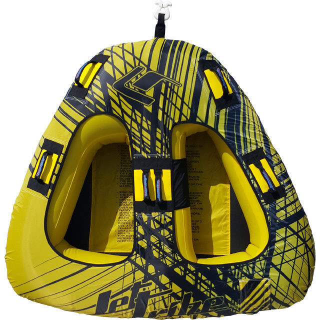 SPIKE TRIANGLE TOWABLE TWO PERSON INFLATABLE TUBE PWC JET SKI Yellow