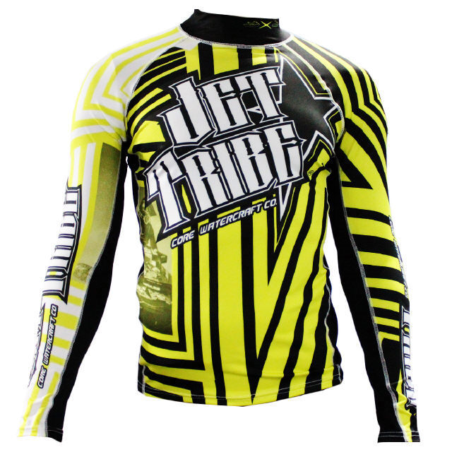 50% OFF! Jettribe JTG 14410-Y Jetski Longsleeve Rashguard Shockwave Yellow S-2XL